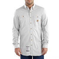 limited sale carhartt 101698 - flame-resistant force® hybrid shirt light gray last chance best price