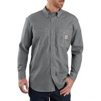 best price carhartt 104138 - flame-resistant force lighweight long sleeve shirt gray last chance limited sale
