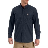 last chance carhartt 102538 - rugged professional™ series long-sleeve shirt navy best price limited sale