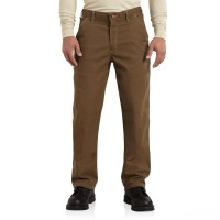 limited sale carhartt 100791 - flame-resistant washed duck loose-original fit pant mid brown best price last chance