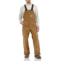 last chance carhartt 101627 - flame-resistant duck bib overall brown best price limited sale