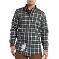 limited sale carhartt 101028 - flame-resistant classic plaid shirt moss last chance best price