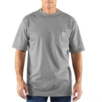 best price carhartt 100234 - flame-resistant force® short sleeve cotton t-shirt light gray last chance limited sale