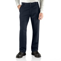last chance carhartt 100172 - flame-resistant relaxed fit pant dark navy best price limited sale