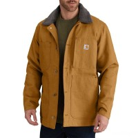 limited sale carhartt 102707 - full swing® chore coat brown best price last chance