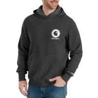 limited sale carhartt 103453 - force delmont pullover hooded sweatshirt black heather best price last chance
