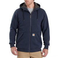 limited sale carhartt 103308 - rain defender® rockland sherpa-lined hooded sweatshirt new navy best price last chance