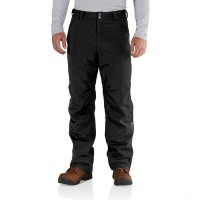 best price carhartt 102717 - insulated shoreline pant black limited sale last chance