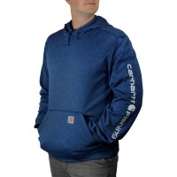 limited sale carhartt 102873 - force extremes™ fishing graphic hooded sweatshirt huron heather last chance best price