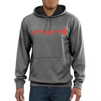 last chance carhartt 102314 - force extremes™ signature graphic hooded sweatshirt granite heather limited sale best price