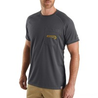 last chance carhartt 103570 - force fishing graphic pocket short sleeve t-shirt shadow best price limited sale