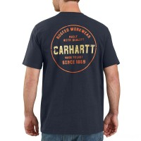 last chance carhartt 104178 - rugged graphic t-shirt navy best price limited sale