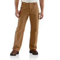 best price carhartt b111 - flannel lined washed duck loose fit pant brown limited sale last chance