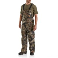 best price carhartt 101226 - camo duck bib overall quilt lined mossy oak break-up country last chance limited sale