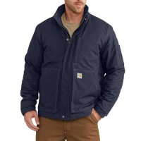 best price carhartt 102692 - flame resistant full swing® quick duck® lanyard access jacket dark navy limited sale last chance