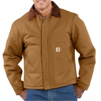 best price carhartt j002 - arctic traditional jacket quilt lined brown limited sale last chance