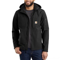 last chance carhartt 103829 - hooded rough cut jacket black limited sale best price