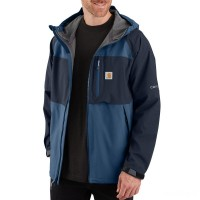 last chance carhartt 104245 - storm defender® force midweight hooded jacket dark blue/navy best price limited sale