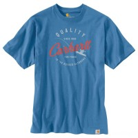 last chance carhartt 104182 - fishing graphic t-shirt french blue limited sale best price