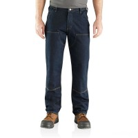 best price carhartt 103329 - rugged flex® double knee relaxed fit jean erie limited sale last chance