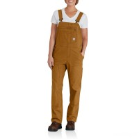 limited sale carhartt 102438 - women's crawford double front bib overall unlined brown best price last chance