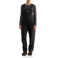 best price carhartt 102740 - women's full swing® cryder bib overalls unlined black last chance limited sale