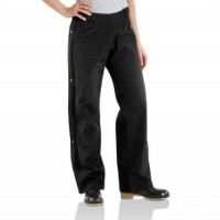 last chance carhartt wb187 - women's waterproof breathable waist overall unlined black limited sale best price
