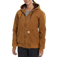 limited sale carhartt 102745 - women's sandstone active jac quilted flannel lined brown best price last chance