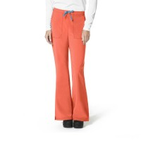 last chance carhartt c52210 - women's force® cross-flex flat front flare scrub pant coral best price limited sale
