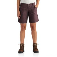 best price carhartt 102531 - women's relaxed fit el paso short deep wine last chance limited sale