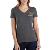 last chance carhartt 103588 - women's lockhart graphic outdoor short sleeve t-shirt carbon heather nep limited sale best price