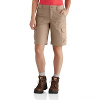 limited sale carhartt 102439 - women's force extremes™ short field khaki best price last chance
