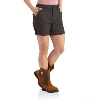 limited sale carhartt 102092 - women's relaxed fit el paso short dark shale last chance best price