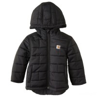 best price carhartt cp8531 - gilliam hooded jacket boys black last chance limited sale