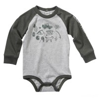limited sale carhartt ca8996 - camping out bodyshirt boys heather gray last chance best price
