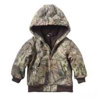 best price carhartt cp8536 - camo active jacket flannel quilt lined boys mossy oak last chance limited sale