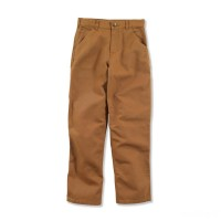 last chance carhartt ck8301 - washed dungaree pant boys brown best price limited sale