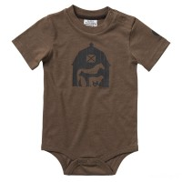 best price carhartt ca6062 - short sleeve heather graphic bodyshirt boys canyon brown last chance limited sale