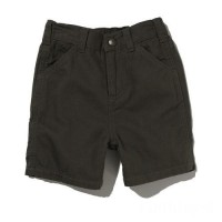 best price carhartt ch8220 - washed canvas dungaree short boys dark green last chance limited sale