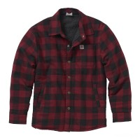 last chance carhartt cp8537 - lined flannel shirt jac boys rhubarb best price limited sale