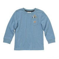 last chance carhartt ca6004 - tool pocket tee boys blue haven best price limited sale