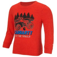 best price carhartt ca8638 - hit the trails force® logo tee boys red last chance limited sale