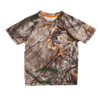 limited sale carhartt ca8473 - force® camo pocket t-shirt boys realtree xtra best price last chance