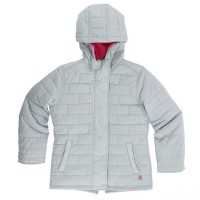 limited sale carhartt cp9637 - amoret quilted jacket girls light gray best price last chance