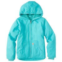 last chance carhartt cp9543 - redwood jacket sherpa lined girls blue torquoise limited sale best price