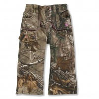 last chance carhartt ck9372 - washed camo canvas pant girls realtree xtra limited sale best price