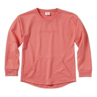 last chance carhartt ca9750 - french terry sweatshirt girls calypso coral best price limited sale