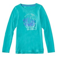last chance carhartt ca9605 - love the outdoors tee girls blue turquoise heather best price limited sale