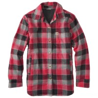 last chance carhartt cp9545 - lined flannel shirt jac girls cerise limited sale best price