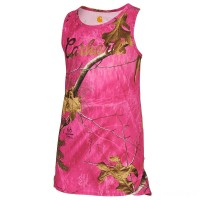 last chance carhartt ca9498 - force pink camo tank girls realtree xtra limited sale best price